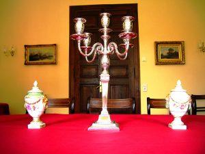 Kerzenleuchter im Gelben Salon