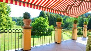 Terrassenblick in den Englischen Landschaftspark